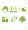 Customer support icons in vector image