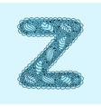 Cute letter Z Floral monogram Z vector image vector image
