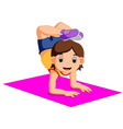 cute woman character doing yoga vector image vector image