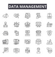 data management line icons signs set vector image vector image