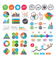 diagram graph pie chart presentation billboard vector image vector image