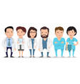doctor medical worker paramedic vector image vector image