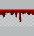 dripping blood current red liquid paint flow vector image vector image
