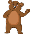 Funny brown bear cartoon vector image vector image