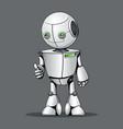 funny kid robot showing ok vector image vector image
