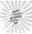 Happy Memorial Day greeting Text and Ribbon vector image vector image