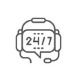 headphones with microphone round-the-clock vector image