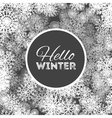 hello winter abstract background design vector image