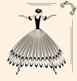 image of ballet woman vector image vector image