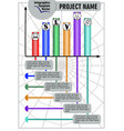 infographic network process visualization template vector image
