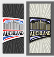 layouts for auckland vector image