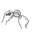 lock picking sketch vector image