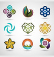 logo design icon set vector image vector image