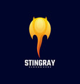 logo stingray gradient colorful style vector image