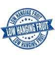 low hanging fruit round grunge ribbon stamp vector image vector image