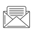 mail envelope linear icon vector image vector image