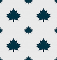 Maple leaf icon Seamless abstract background with vector image