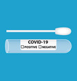 medical equipment for testing covid-19 ill vector image vector image