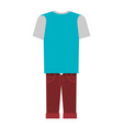 men casual clothes icon vector image
