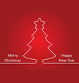 merry christmas and happy new year card il vector image