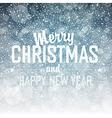 merry christmas snowfall background vector image vector image