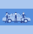 motor vehicle service or car tune-up station vector image