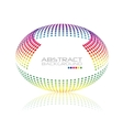 Multicolored globe Oval sphere abstract vector image vector image