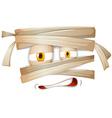 Mummy emojicon facial expression vector image