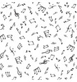 music notes elements seamless pattern musical vector image vector image