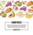 natural eco farming poster vector image vector image