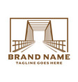 old bridge logo vector image vector image