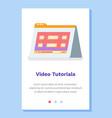 online video tutorials concept website landing vector image
