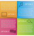 overlapping squares paper vector image vector image