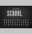 pencil font and bold alphabet sketch tall vector image vector image