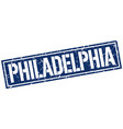 philadelphia blue square stamp vector image vector image