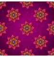 Purple flower pattern vector image vector image