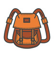 retro backpack of waterproof beige fabric with