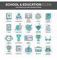 school education university study learning vector image vector image
