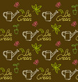 seamless pattern with be green text vector image vector image