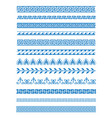 set of greek patterns and vector image