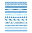 set of greek patterns vector image vector image