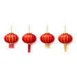 set of isolated chinatown lanterns for new year vector image