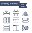 Set of line icons for DIY construction building vector image vector image