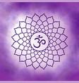 seventh crown chakra - sahasrara vector image vector image