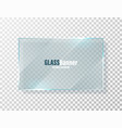 shining glass frame realistic transparent glass vector image vector image
