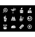 Simple white glyph mexican menu icons vector image vector image