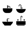 sink icons set plumbing icons vector image vector image
