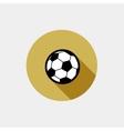 soccer ball flat icon vector image vector image