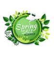 spring sale promotion banner poster paper vector image vector image