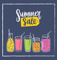 square banner template with summer sale lettering vector image vector image